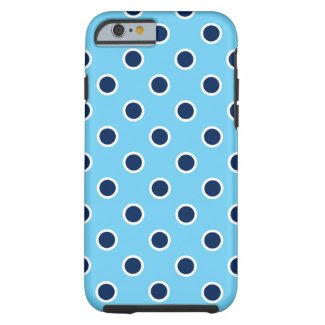 Navy Polka Dots on Bright Blue iPhone 6/6s Case Tough iPhone 6 Case