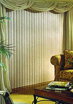 Boise Inserted Fabric Vertical Blinds Window Covering Outlet