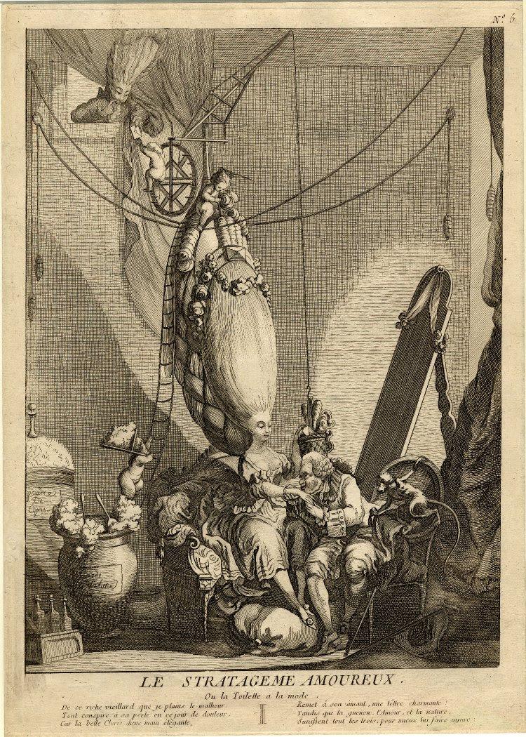Le stratageme Amoureux, ou la toilette a la mode 1770s