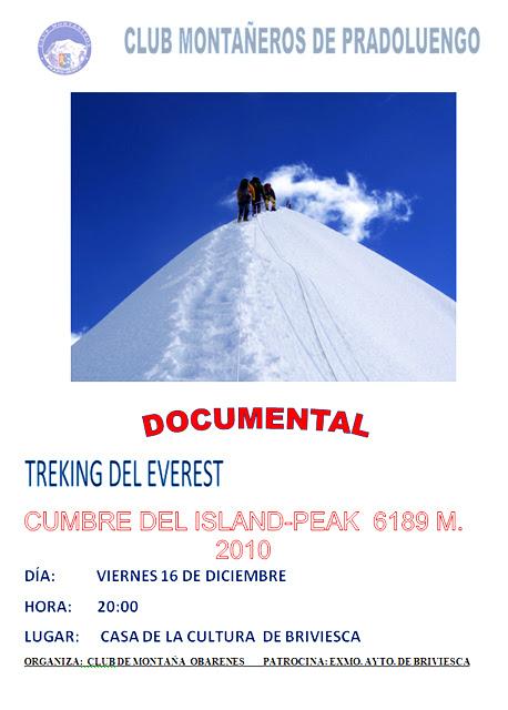 Cartel de conferencia sobre treking en Nepal