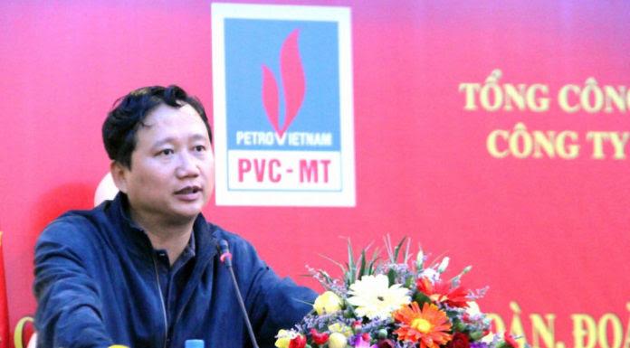 Trịnh Xuân Thanh khi đang là bí thư đảng ủy, chủ tịch Tổng Công Ty Cổ Phần Xây Lắp Dầu Khí Việt Nam. (Hình: Ảnh: PVC-MT)