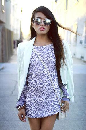 mint blazer Zara blazer - bec & bridge dress - coach bag coach bag