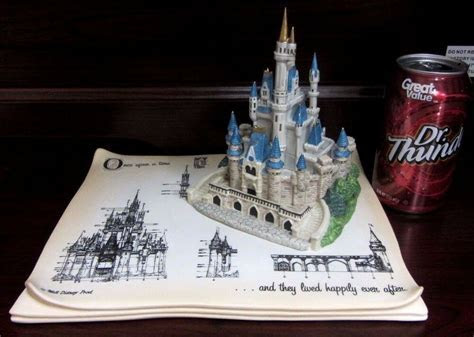 RARE Disney LE Cinderella Castle Figural Model Sheet