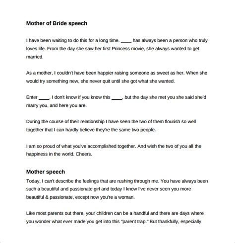 8  Wedding Speech Examples   PDF