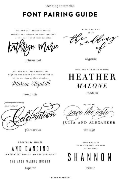 guide to using fonts on wedding invitations   Pittsburgh