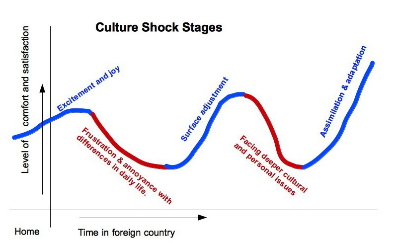 Culture shock stages: dealing with a culture shock on your own.