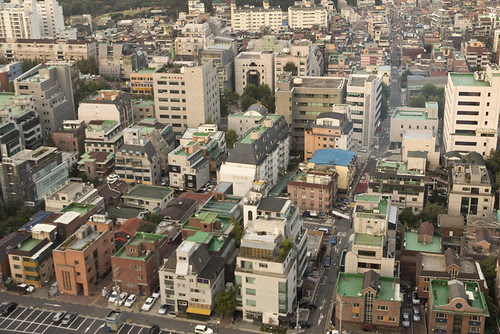 Painted green roofs in Gangnam