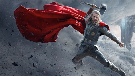 full hd wallpaper thor hit mjolnir cloack desktop