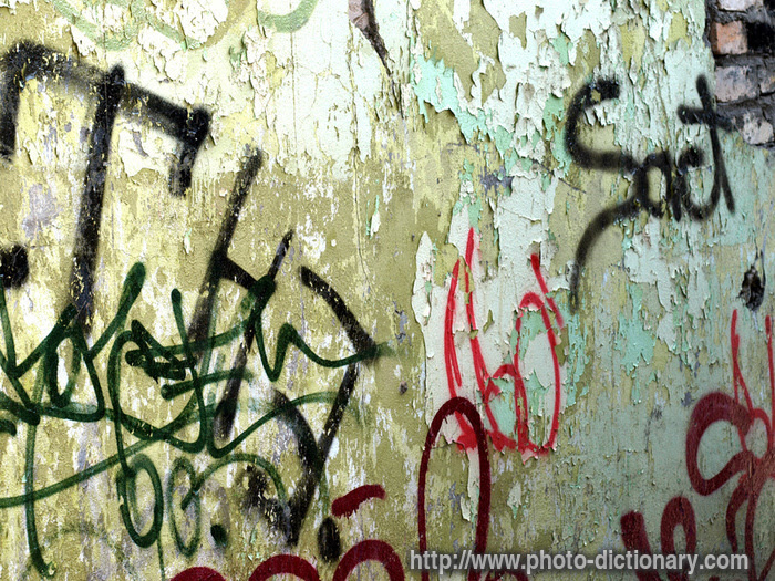 Graffiti Tags Photo Picture Definition At Photo Dictionary