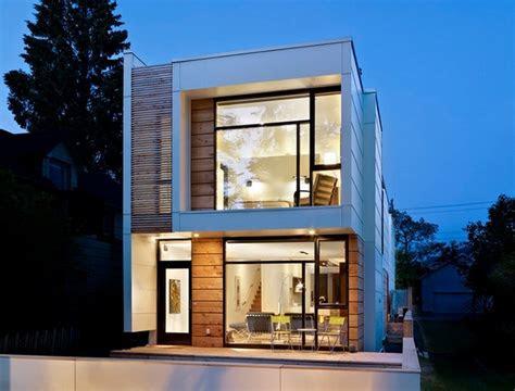 deceitfully small thin house  small