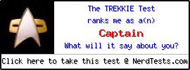 The Trekkie Test -- Create and Take a Fun Test @ NerdTests.com's User Tests!