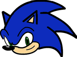 Sonic the Hedgehog (head) coloring page by AngelFan4life ...