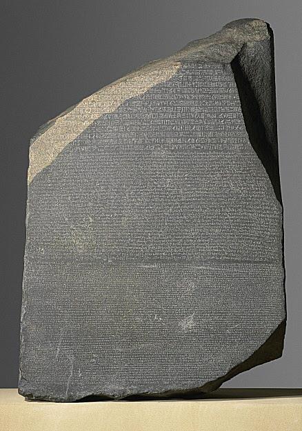 Pedra de Roseta (196 a.C.) - British Museum