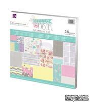 Набор бумаги от Prima - Hello Pastel Collection Kit, размер: 30х30см, 18 листов - ScrapUA.com