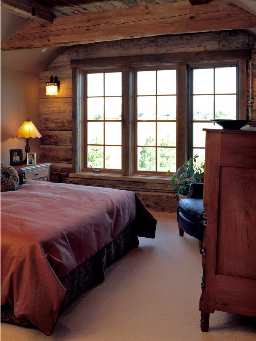 Montana mix traditional bedroom