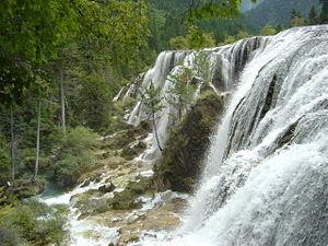 {{w|Pearl Shoal Waterfall}}, western Sichuan, ...