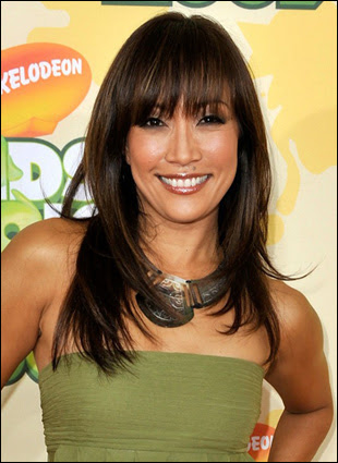 Carrie Ann Inaba Layered Hairstyle with Bangs
