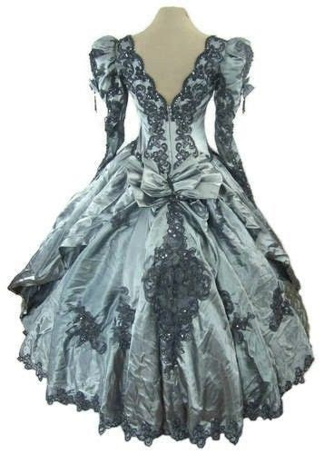 gothic steampunk victorian ball gown wedding dress rococo