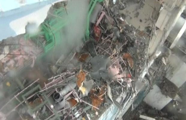 Imagem do interior de reator de Fukushima Daiichi (Foto: BBC)