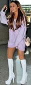 Ariana Grande Minivestido Con Botas