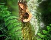 Resting in the Ferns 11x14 Fantasy Fairy Art Print - SusanSchroderArts
