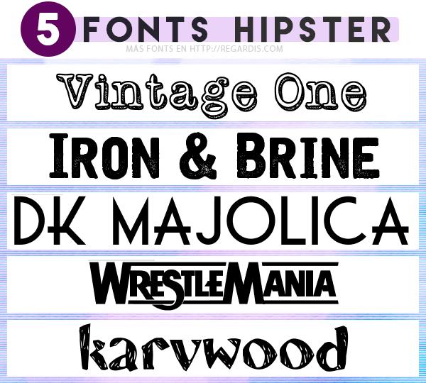 5 Fonts Hipster Gratis Regardis