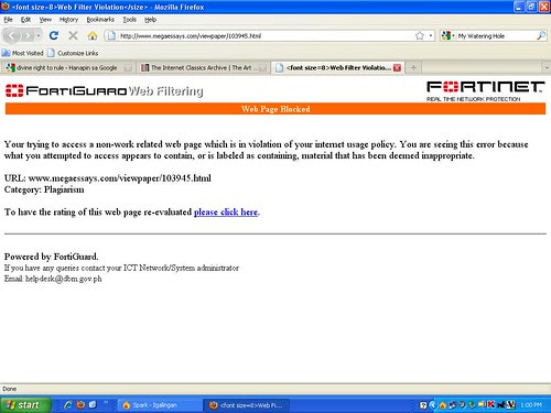 firewall warning
