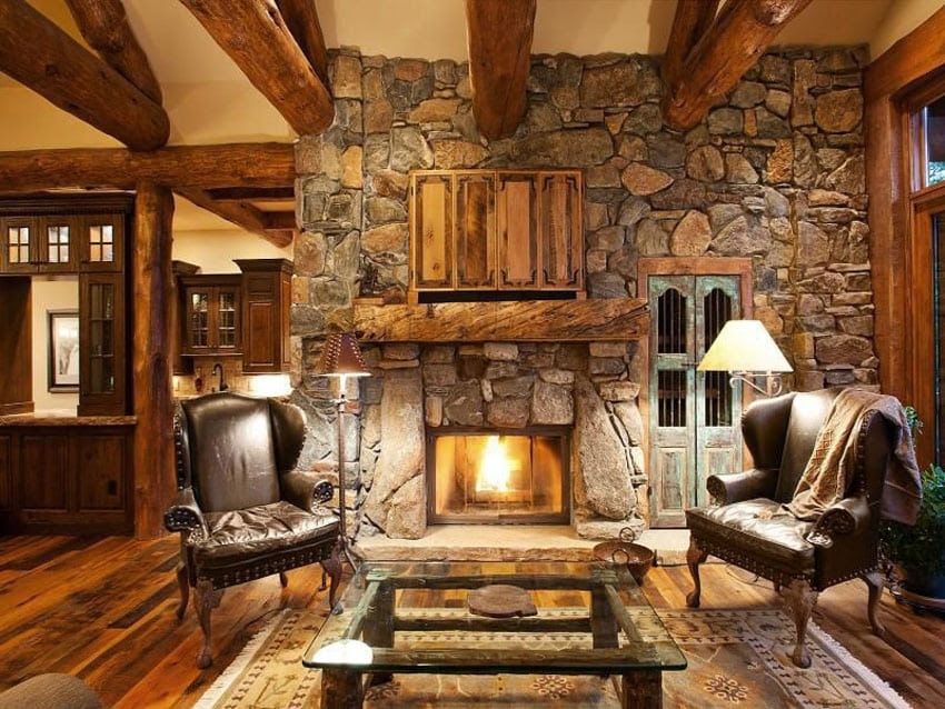 Rustic Living Room with Chandelier by Locati Architects | Zillow ...