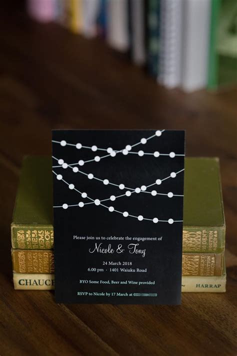 Fairy Lights Engagement Party Invitation   Be My Guest