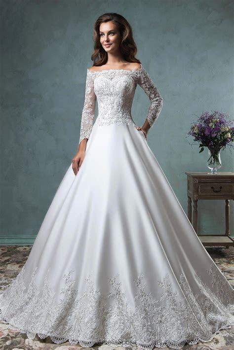 vestido de noiva Elegant Boat Neck Ball Gown Wedding