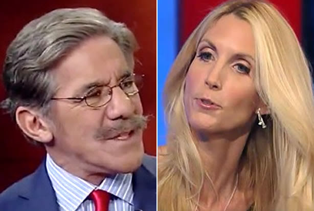 """Immigration cage match! Geraldo Rivera and Ann Coulter throw down on """"Hannity"""""""