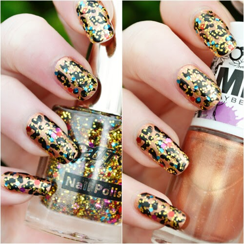 Notd Glitter Leopard Print Nails Makeup Savvy Makeup And Beauty Blog