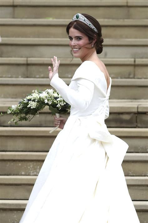 Princess Eugenie's Wedding Dress Compared to Kate and