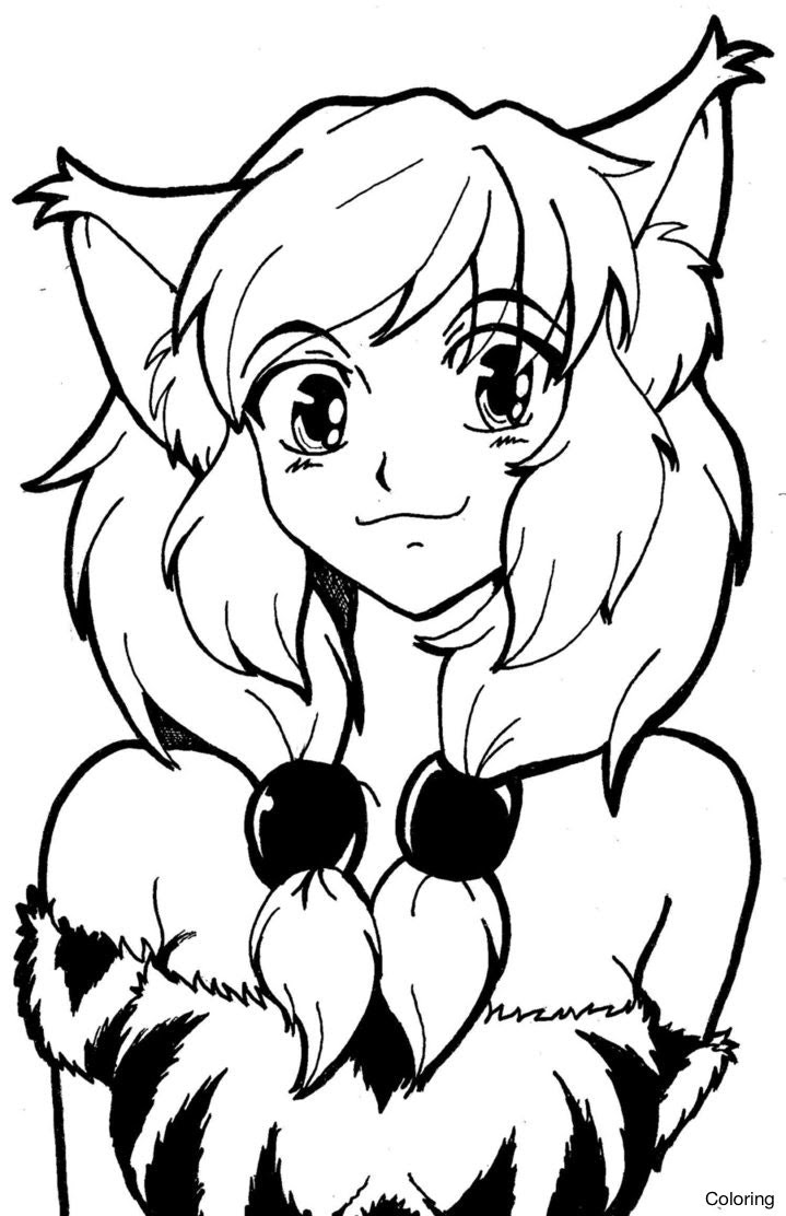570 Anime Coloring Pages Fox Images & Pictures In HD