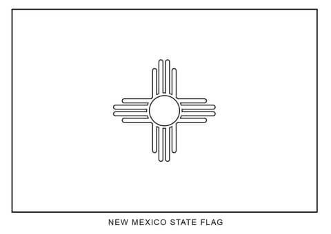 Dibujo De Bandera De Nuevo Méjico Para Colorear Dibujos Para