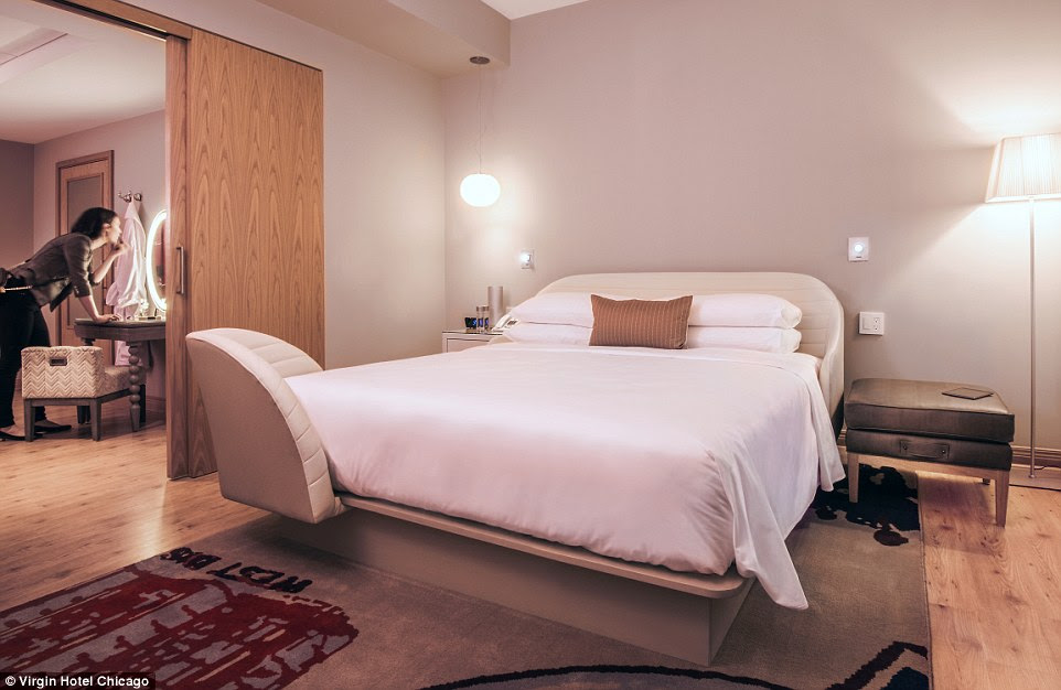 The chamber is separated in two sections, separated by a sliding door, with a peep hole. This allows room service to be ordered, and modesty protected