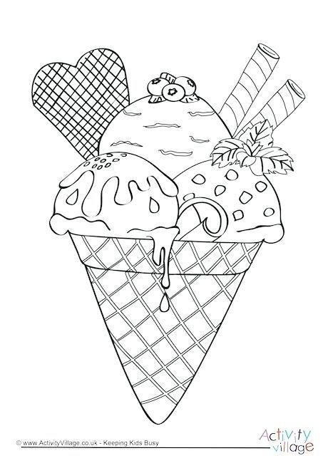 Mewarnai Gambar Ice Cream Radea