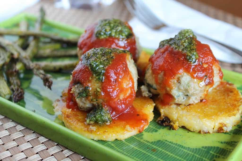 Chicken Parmeatballs & Crispy Polenta 2
