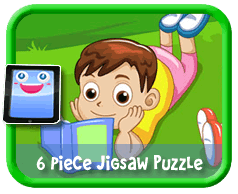 Reading Outdoors Online jigsaw puzzle for kids