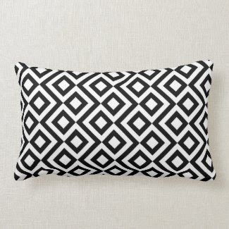 Black and White Meander Pillow