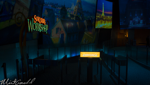 Disneyland Resort, Disney California Adventure, Hollywood Land, Frozen, Fun, Animation, Building, Sorcerer's Workshop, Ursula's Grotto, Closed