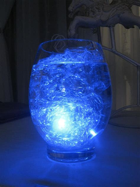 Submersible LED light, cellophane & water. What could be