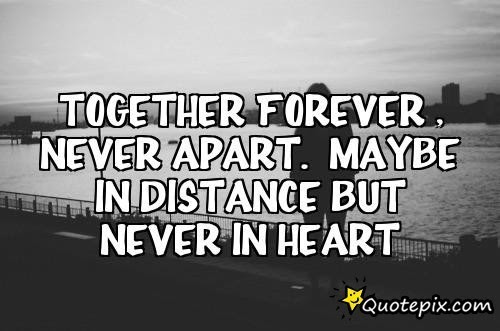 Quotes About Distance Apart 60 Quotes