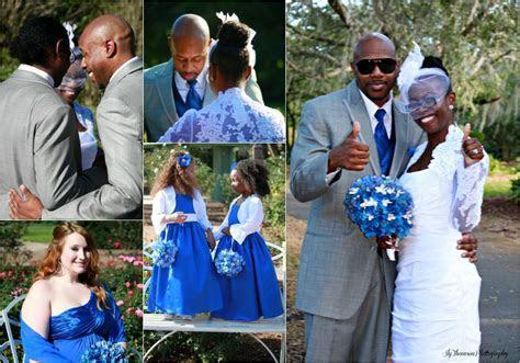 Royal Blue And Grey Wedding