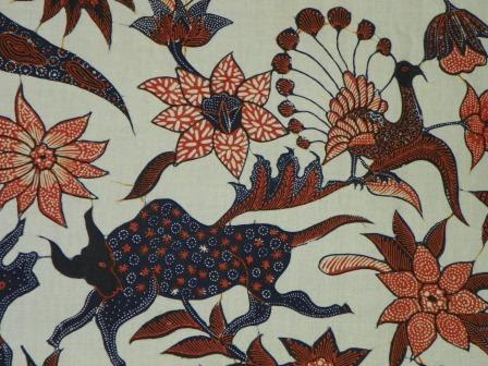 Gambar Contoh Motif Batik Hewan Selendang Tulis Binatang