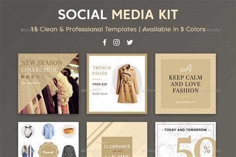 Social Media Kit by brandifystudio   GraphicRiver