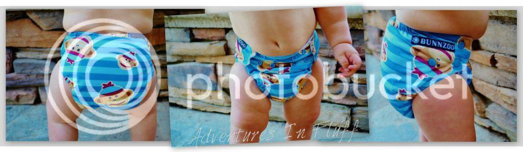 Bunnzoo pocket diaper up close