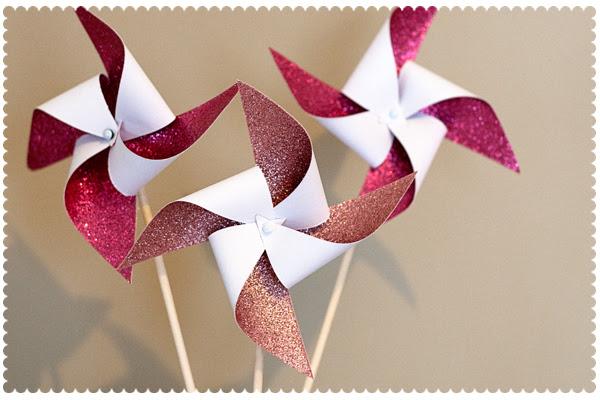 glittery pinwheels