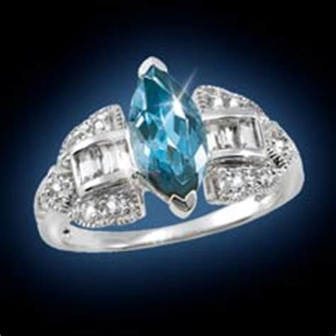 The Concorde Collection London Blue Topaz Marquise Ring