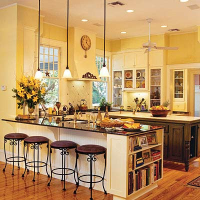 Yellow Paint Country Kitchen Remodeling Ideas Small Kitchens And Photos